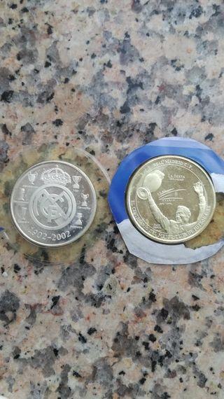 once monedas de plata del centenario del real Madr
