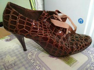 zapato botin señora