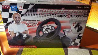 Volante y pedales SpeedRacer ps3 pc