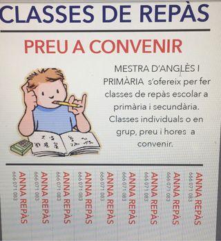 Classes reforç escolar/cangur