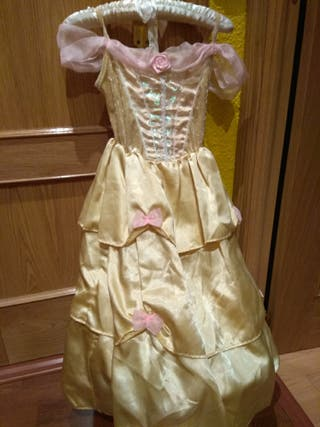 vestido disney la Bella talla 7-8