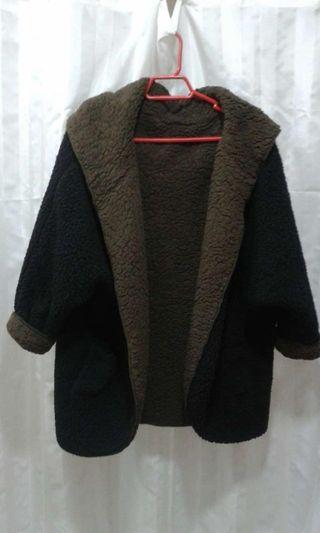 abrigo peluche reversible