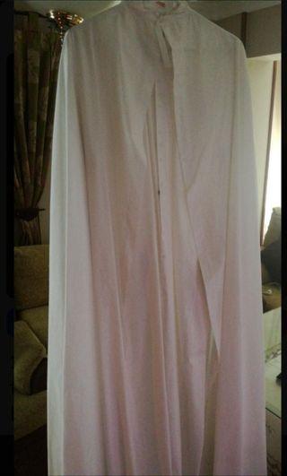 capa y túnica de nazareno blanca