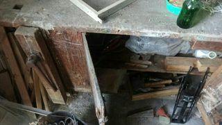 banco de carpintero muy antiguo
