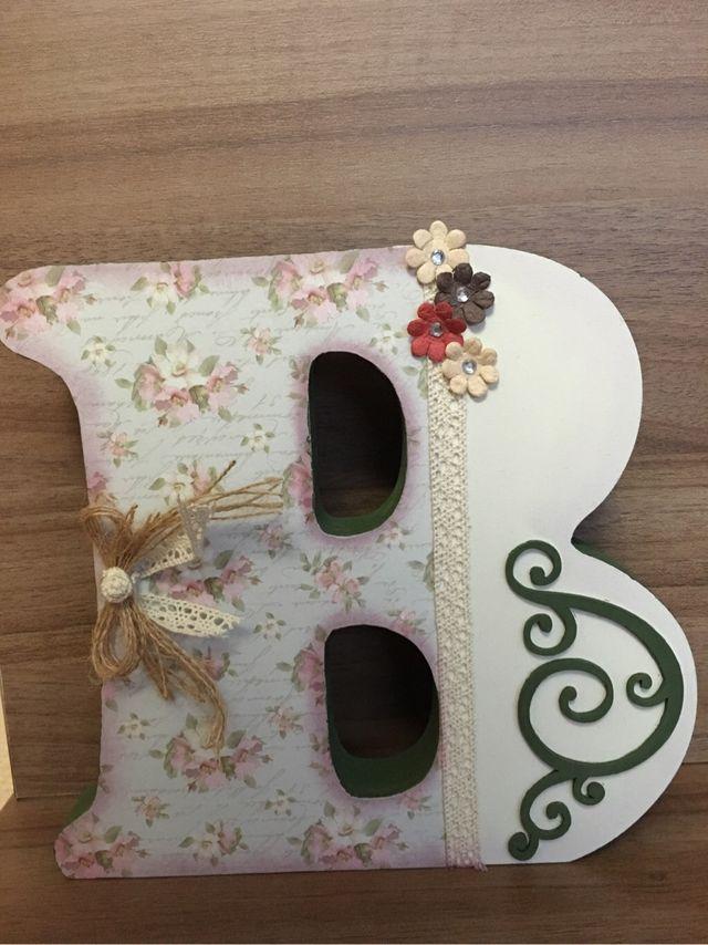 Letras de madera decoradas de segunda mano por 25 en zaragoza wallapop - Casa letras madera ...