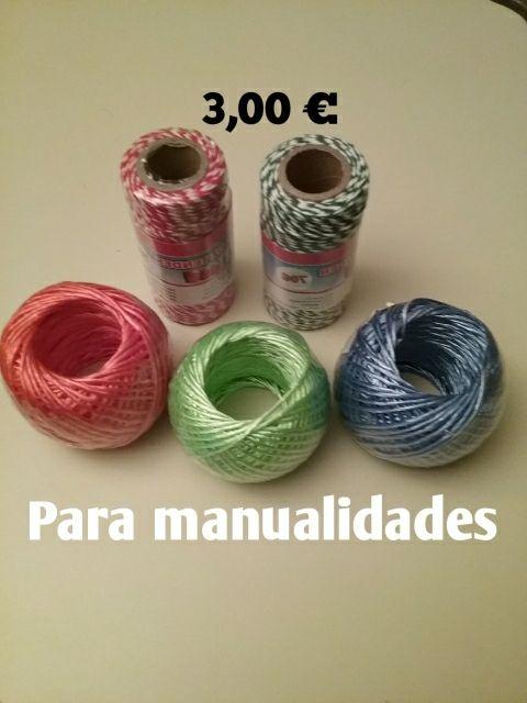 Cuerdas para manualidades. Sin usar.