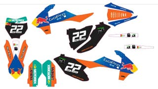 Kit pegatinas KTM SX 85, 65, 50, etc.