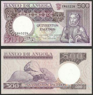 ANGOLA - 500 escudos 1973 P# 107 - billete