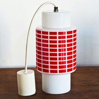 Lámpara cristal translúcido. Vintage. Años 60