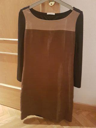 vestido ante bicolor
