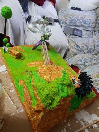 diorama-lampara dragon ball. Maqueta hecha a mano