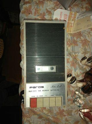 Grabador casette Paros T160. Vintage.