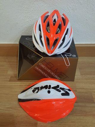 Casco ciclismo Spiuk Dharma Blanco-Naranja