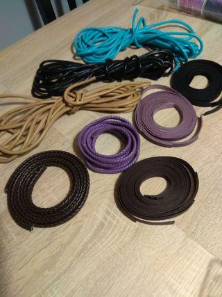 piezas de polipiel para pulseras y collares