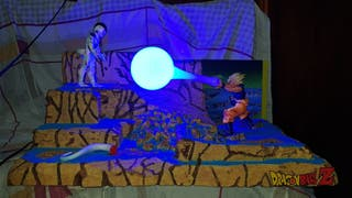 dragon ball Z diorama lampara de goku y freezer