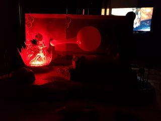 dragon ball Z diorama-lampara Goku y Vegeta