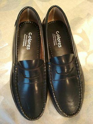 zapatos chico mocasin talla 37