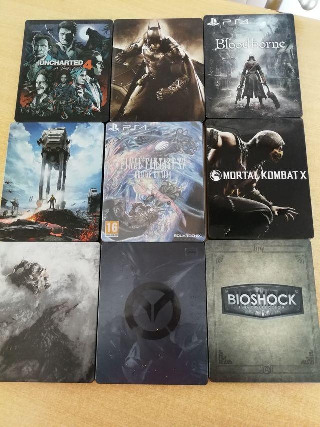 Cajas metálicas videojuegos