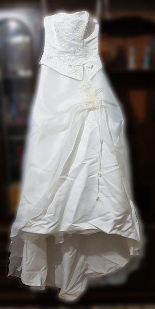 vestido de novia talla 38 de segunda mano en cartagena en wallapop