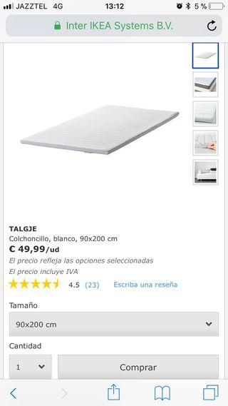 OPORTUNIDAD Colchon IKEA TALGJE 90x200 cms