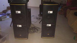 Altavoces equipo música 2400 watios baratos