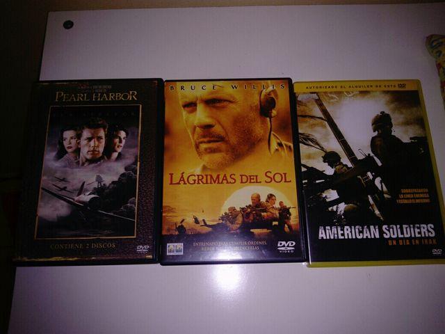 DVDs pelis bélicas