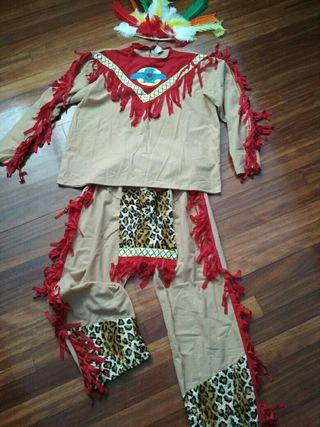 Disfraz de indio talla M-L con plumas