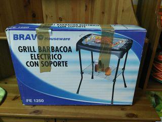 grill barbacoa eléctrico con soporte