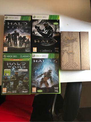 Colección HALO Xbox360 libro