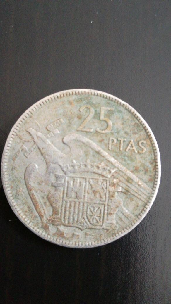Moneda 25 pesetas 1957