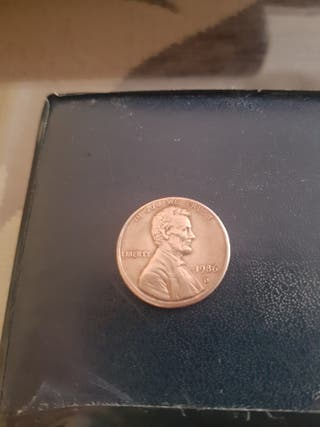 moneda: one cent 1986-D USA+ one cent 1972-D