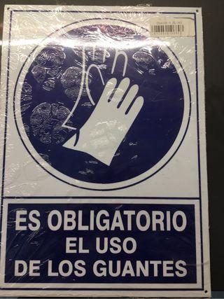 Señal uso guantes