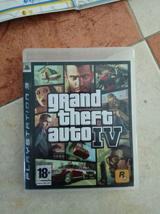 Ps3 gran thief auto gta 4 IV juego playstation