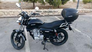 moto MH (MotorHispana) 125cc. año 2016.