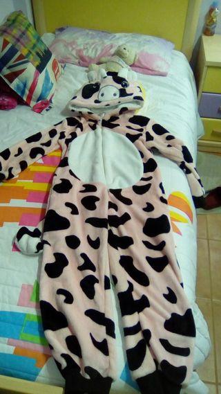 mono pijama de vaca