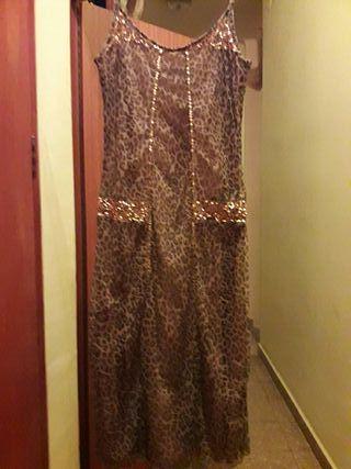 vestido animal print