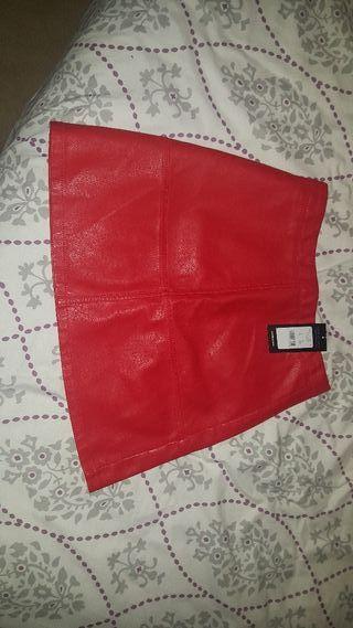 falda roja talla 36