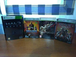 Juegos Xbox 360. Halo, Mass Effect coleccionistas