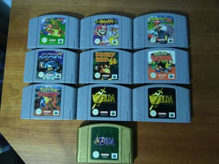 Juegos Nintendo 64. Ocarina, Majora, Donkey kong..