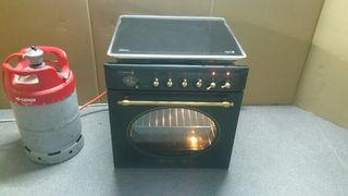 horno rustico + encimera a gas