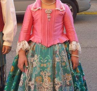 Corpiño rosa fallera talla 6-8 años
