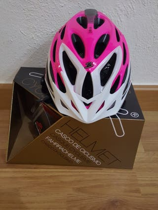 Casco ciclismo Spiuk Zirion Fucsia-Banco