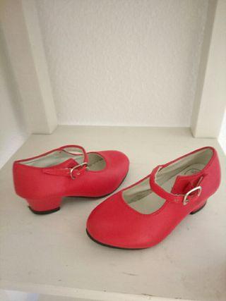 zapatos de flamenca niña t.24