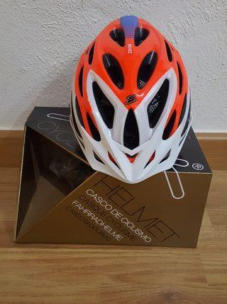 Casco ciclismo Spiuk Zirion Naranja-Blanco
