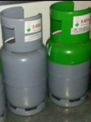 Botellas vacías de refrigeración