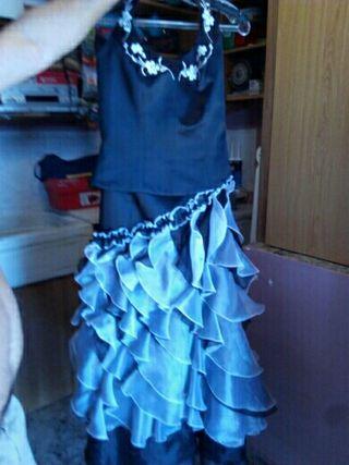 vestido fiesta con chal