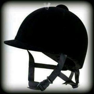 casco equitacion fuganza terciopelo negro