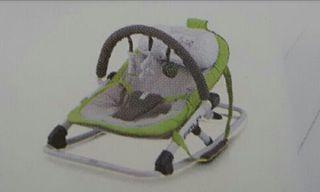 Hamaca bebé Jane Fold Verde/Gris