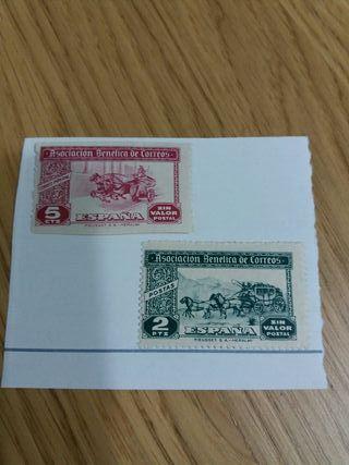 sellos asociacion benefica de correos