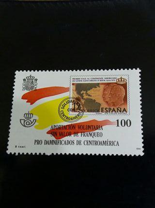 sello aportacion voluntaria pro damnificados